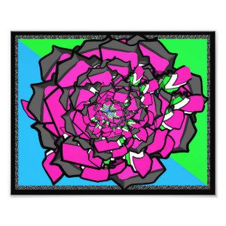 Fleur abstraite photo sur toile