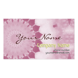 Fleur abstraite moderne professionnelle de rose de carte de visite standard
