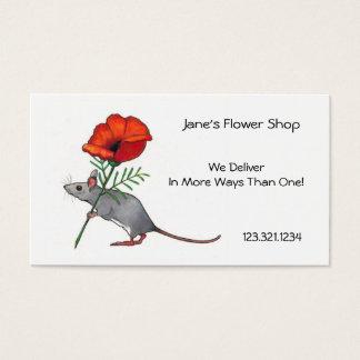 Fleur, affaires de fleuriste : Souris avec la Cartes De Visite