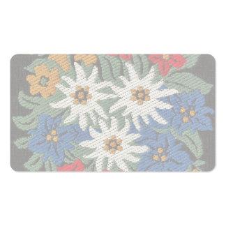 Fleur alpine d'edelweiss carte de visite standard