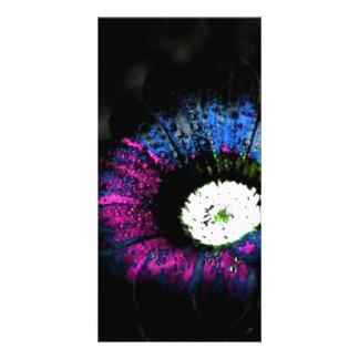 Fleur atomique photocarte customisée