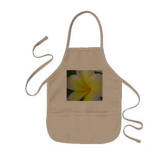Fleur blanche et jaune de Frangipani Tablier Enfant