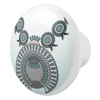 FLEUR de COURGE en céramique de bouton