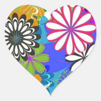 Fleur de Daytona Sticker Cœur