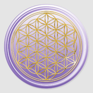 Fleur de DES Lebens - violette de la vie/Blume Sticker Rond