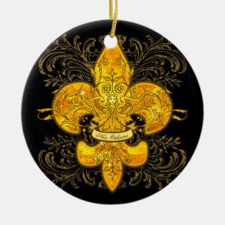 Fleur de Guardian Rundes Keramik Ornament