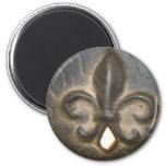 Fleur De Lis Design Magnet Rond 8 Cm