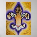 Fleur de lis Tiger Affiches
