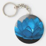 Fleur de Lotus bleu Porte-clefs