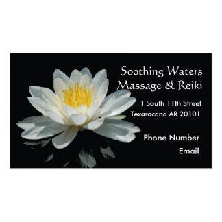Fleur de Lotus de flottement Cartes De Visite Professionnelles