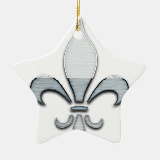 Fleur de Lys Keramik Stern-Ornament