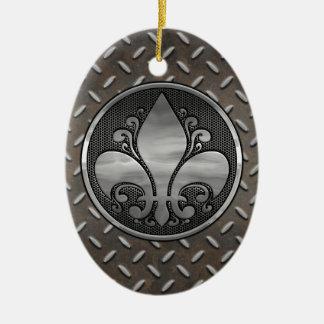 Fleur de Metallic Ovales Keramik Ornament
