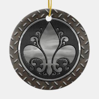 Fleur de Metallic Rundes Keramik Ornament