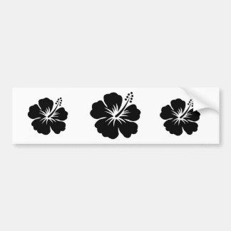 Fleur de noir aloha autocollant de voiture