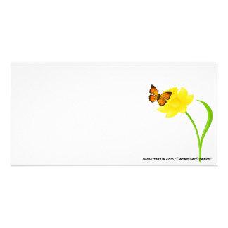 Fleur de papillon carte avec photo