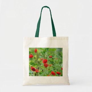 Fleur de pavot sac en toile budget