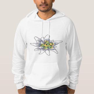 Fleur d'edelweiss pull à capuche