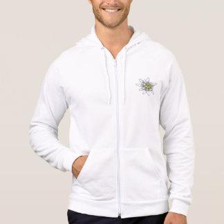 Fleur d'edelweiss veste à capuche