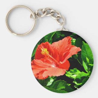 Fleur d'été porte-clé rond