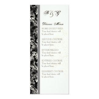 Fleur di Lys Damask - graue Hochzeits-Einladung