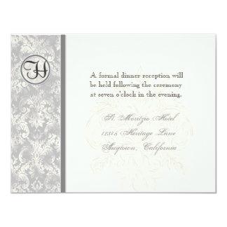 Fleur di Lys Damask - lila Empfangs-Einladung