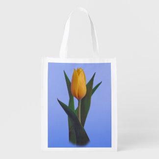 Fleur d'or de tulipe, monogramme sac d'épicerie