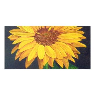 Fleur ensoleillée photocartes personnalisées