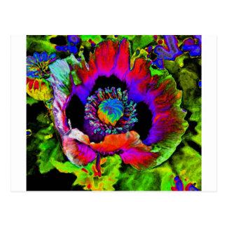 Fleur géniale cartes postales