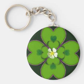 Fleur irlandaise Patty de St Patrick de trèfle de  Porte-clé Rond