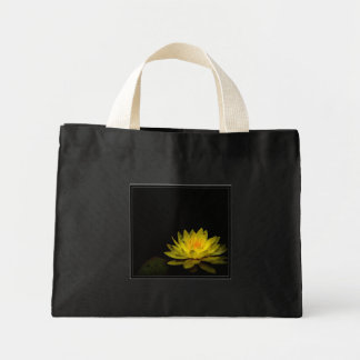 Fleur jaune sac en toile mini