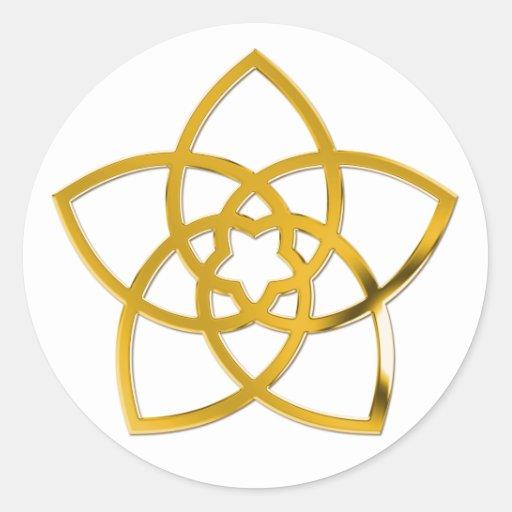 Fleur/OR de Vénus de symbole Adhésifs Ronds