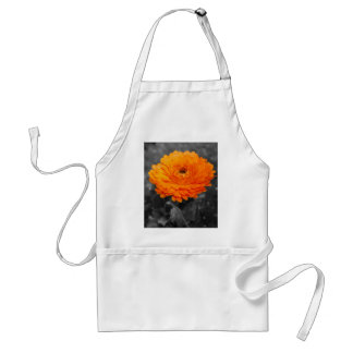 Fleur orange tablier