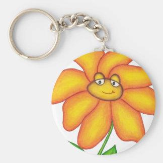 Fleur Porte-clé Rond