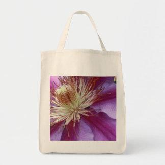 Fleur pourpre sac en toile épicerie