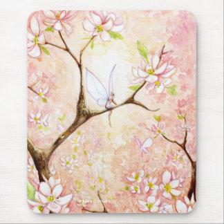 Fleur rose de vue tapis de souris