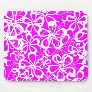 Fleur rose tapis de souris