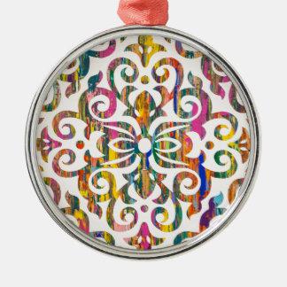Fleur Rundes Silberfarbenes Ornament
