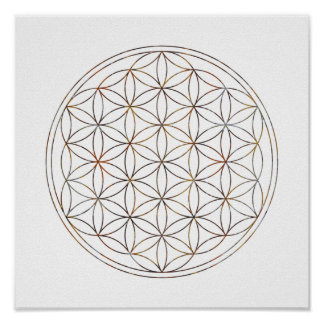 Fleur sacrée de la géométrie de la vie poster
