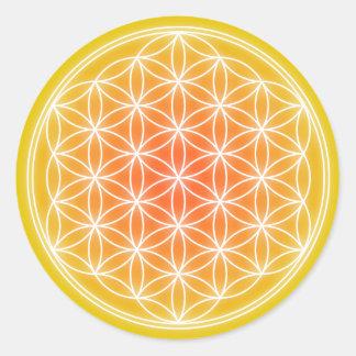 Fleur solaire 0,1 sticker rond