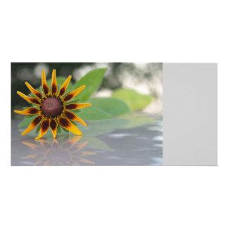 Fleur TEYoung de réflexion Cartes De Vœux Avec Photo