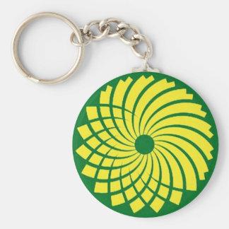 Fleur verte porte-clés