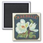 Fleur vintage de magnolia magnets pour réfrigérateur