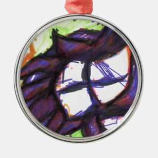 Fleur Zuhause Possiblus Rundes Silberfarbenes Ornament