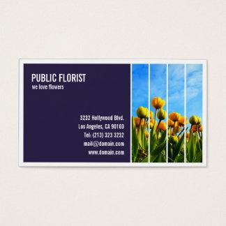 Fleuriste carrelé de fleuriste de photographie cartes de visite