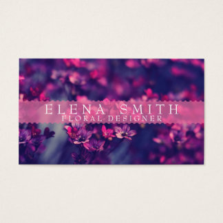 Fleuriste violet cartes de visite