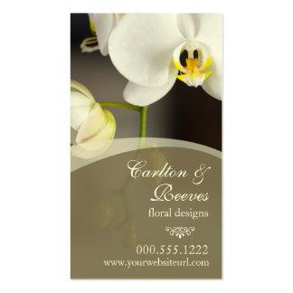 Fleurs 2 d'orchidée modèles de cartes de visite
