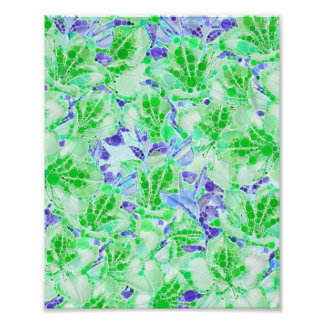 Fleurs abstraites vert-bleu calmes photographe