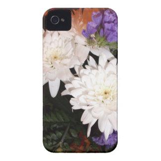 Fleurs blanches et pourpres coques iPhone 4 Case-Mate