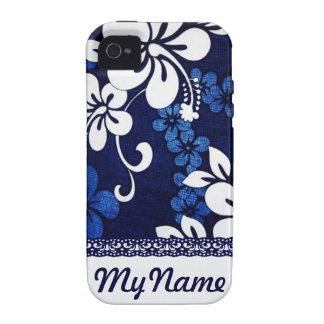 Fleurs bleues personnalisées d Hawaï Coque iPhone 4 Vibe