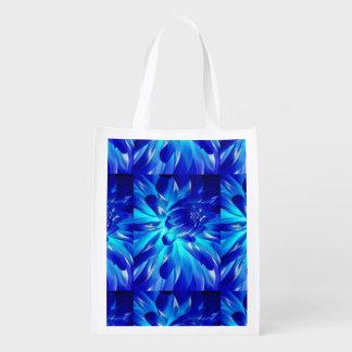 Fleurs bleues sac réutilisable d'épcierie
